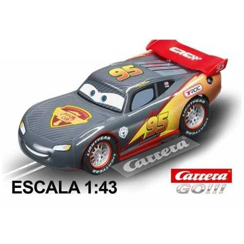 Coche Carrera Go Disney Cars Rayo McQueen Carbon NEON
