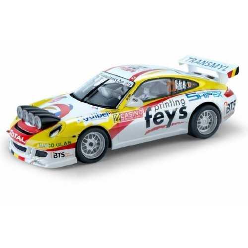 Coche de Scalextric Analogico Porsche 911 GT3 Rally Marc Duez 2015