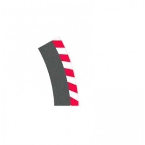 Curva inclinada de borda externa 1/30 ° (6 unidades) Carrera 132-124
