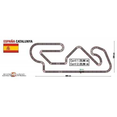 Circuito de Scalextric Analógico C2 España Catalunya Montmelo