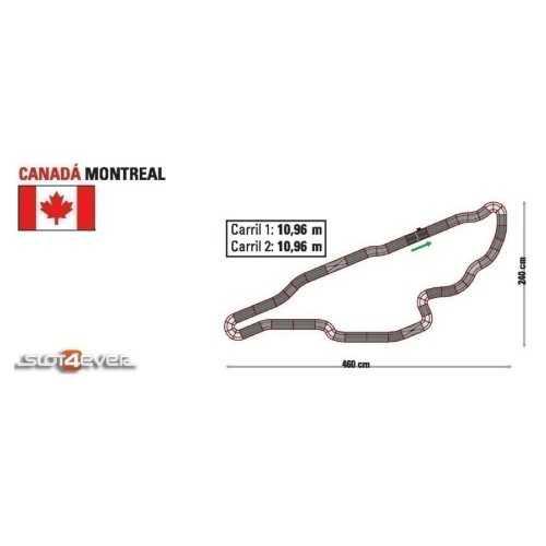 Circuito de Scalextric Analógico C2 Canada Montreal