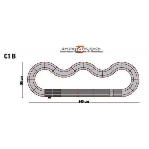 Circuito de Scalextric Analógico C1B GT Racing