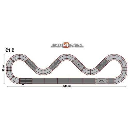 Circuito de Scalextric Analógico C1C GT Racing