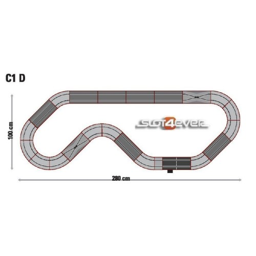 Circuito de Scalextric Analógico C1D GT Racing