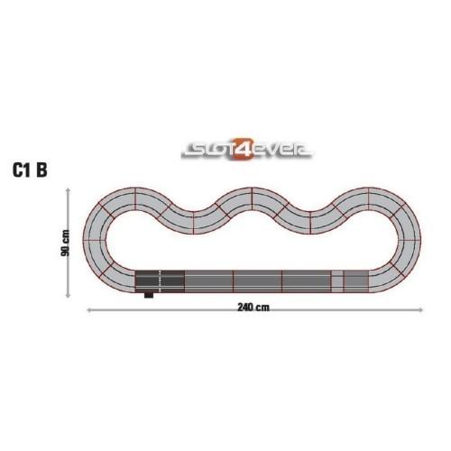 Pack de ampliación Circuito de Scalextric Universal C1B
