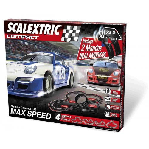 Circuito de Scalextric Compact Max Speed Inalámbrico