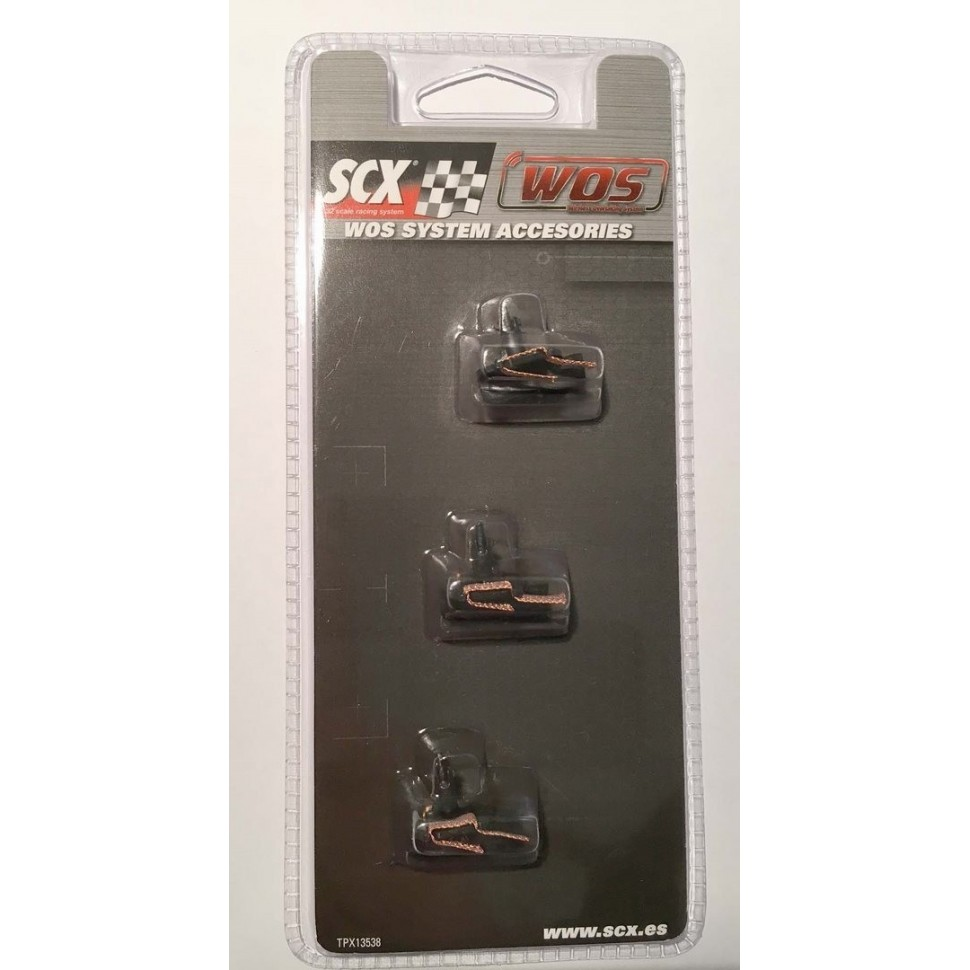 Guia con trencillas (3ud) Scalextric WOS
