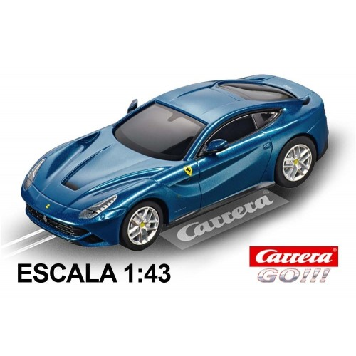 Coche Carrera Go Ferrari F12 Berlinetta Azul