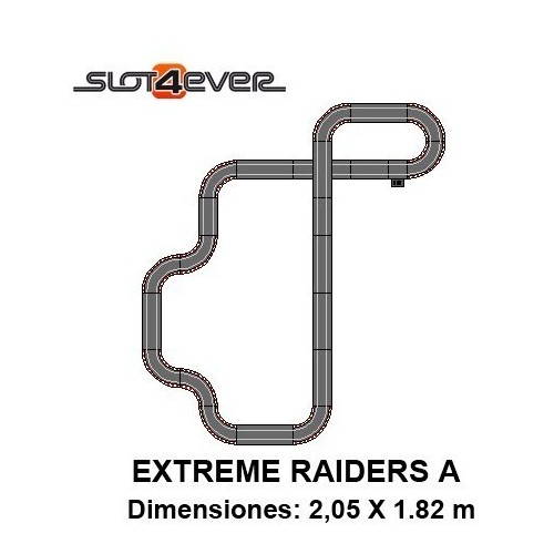 Circuito de Scalextric Compact Extreme Raiders A