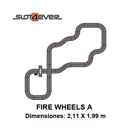 Circuito de Scalextric Compact Ampliado Fire Wheels A