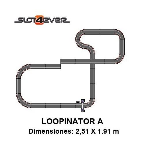 Circuito de Scalextric Compact Ampliado LOOPINATOR A