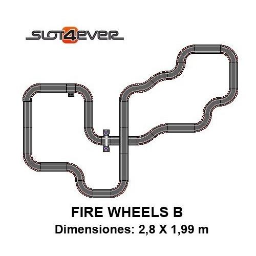 Circuito de Scalextric Compact Ampliado Fire Wheels B