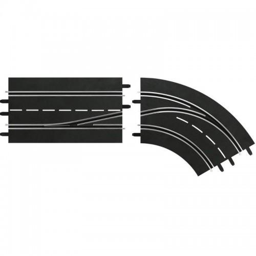 Trilha de mudança de faixa em uma curva direita de dentro para fora Carrera Digital 132-124