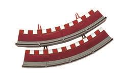 Accesorios de Scalextric Universal Borde con valla curva standard