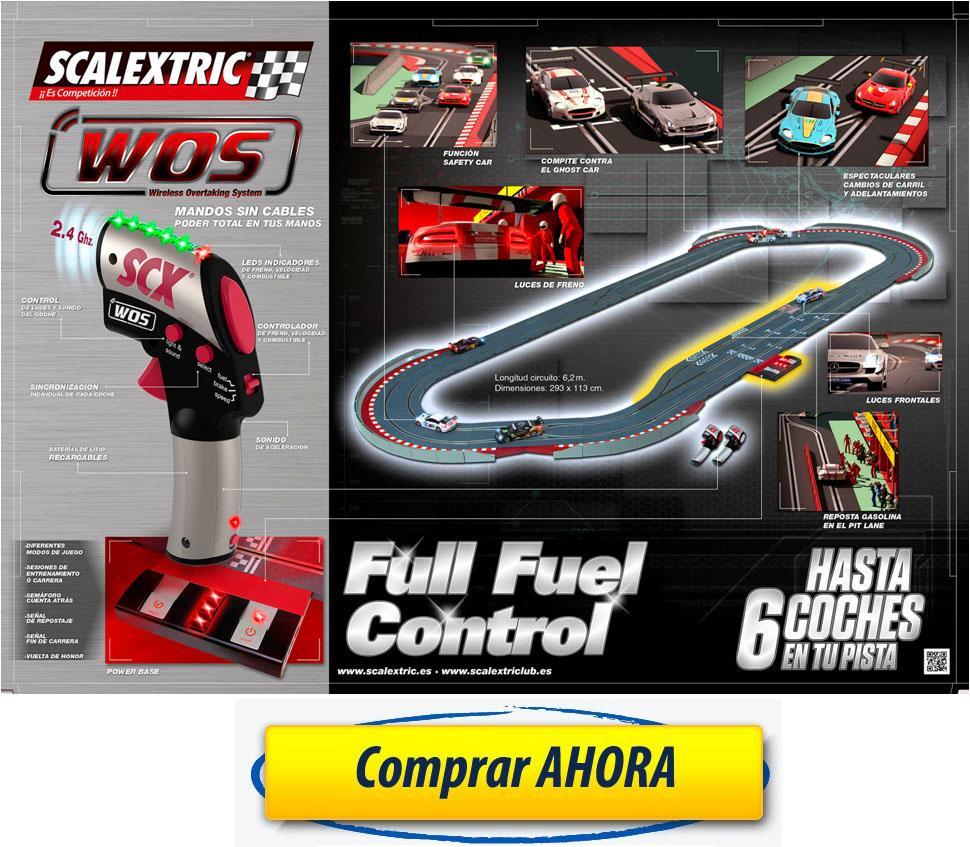 comprar circuito de Scalextric WOS Full Fuel Control barato