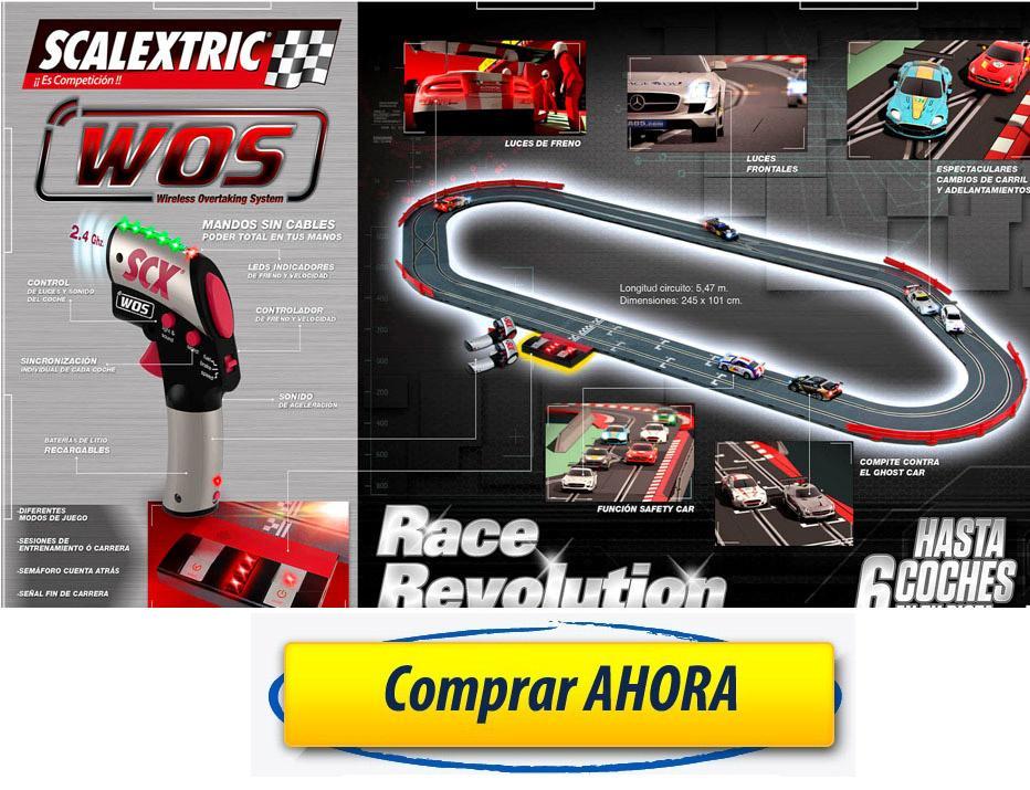 comprar circuito Scalextric WOS Race Revolution barato