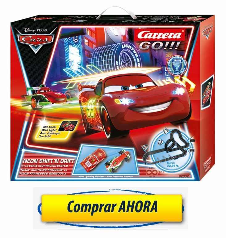 Comprar Circuitos de Carrera Go Disney Cars Neon Shift N Drift