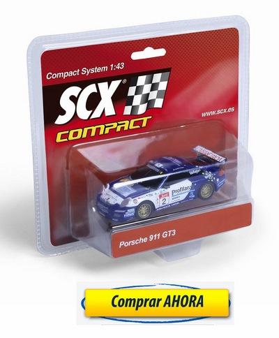 comprar Coches de Scalextric Compact Porsche 911 GT3 Vallejo barato