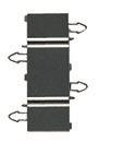 Pistas de Scalextric Universal recta de cierre