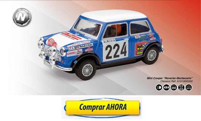 comprar coche de scalextric analogico Mini Cooper Reverter Montecarlo