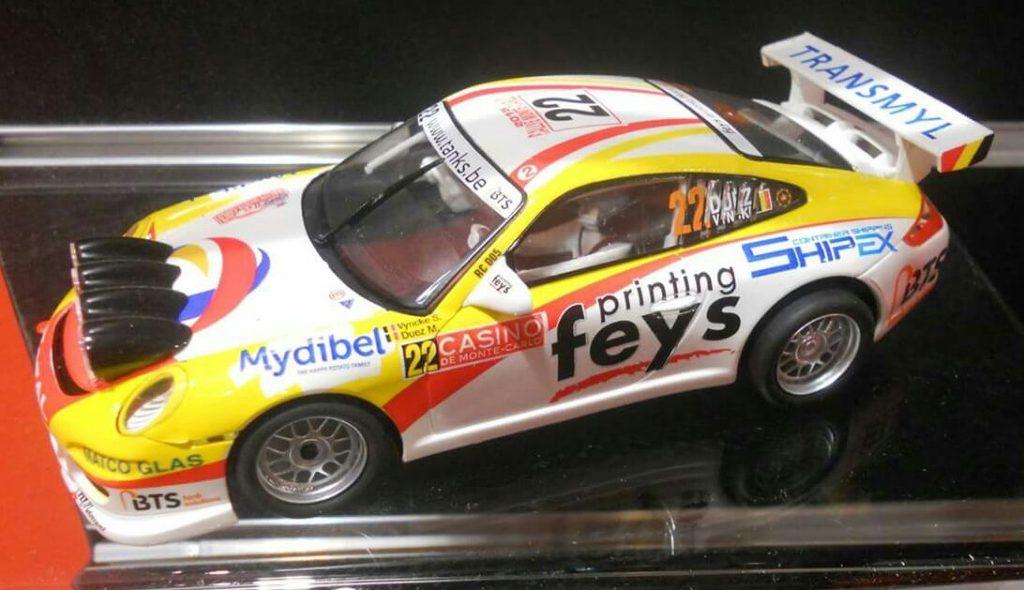 coche scalextric Porsche 911 GT3 Rally Marc Duez montecarlo 14