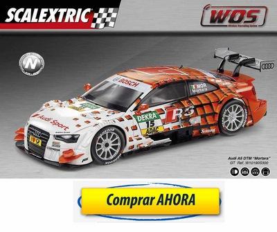 comprar Coche de Scalextric WOS Audi A5 DTM Mortara