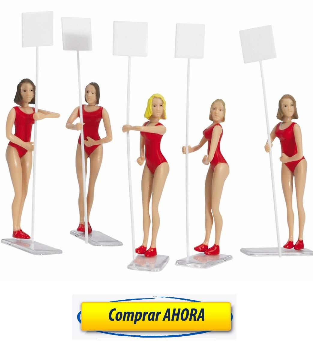 comprar Figuras Decoracion Chicas Parrilla de Salida 5ud Carrera 132-124