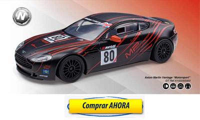comprar coche de scalextric analogico Aston Martin Vantage Motorsport
