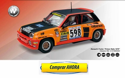 comprar coche de scalextric analogico Renault 5 Turbo Calberson Primer Rally 1979