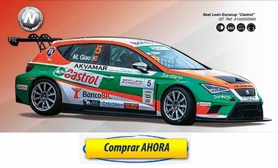comprar coche de scalextric analogico Seat Leon Eurocup Castrol
