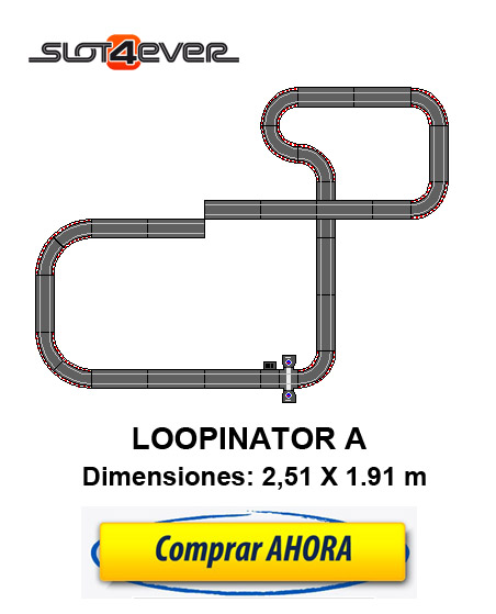 CIRCUITO SCALEXTRIC COMPACT AMPLIADO LOOPINATOR A