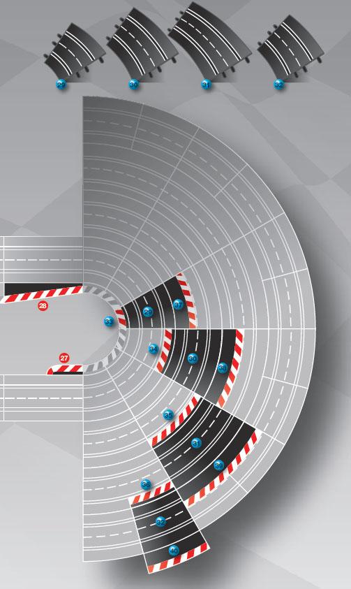 comprar pistas curvas peraltadas carrera evolution