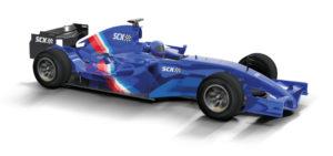 Coche de Scalextric Compact F1 azul